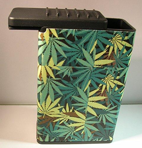 Field Of Marijuana Weed Plant Cigarette Case Flat Slide Top Box Kings 100's