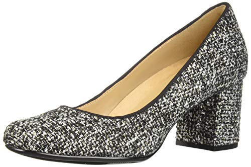 Naturalizer Women's WHITNEY2 Pump, Black/White Tweed Fabric, 10 M US