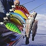 Gotd 5pc Artificial bass fishing tackle 3d Fish Eye hard plastic fishing crank bait (Pack of 5)