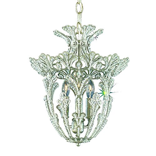 Schonbek 6710-23S Swarovski Lighting Rivendell Pendant Light, Etruscan (Rivendell 3 Light)