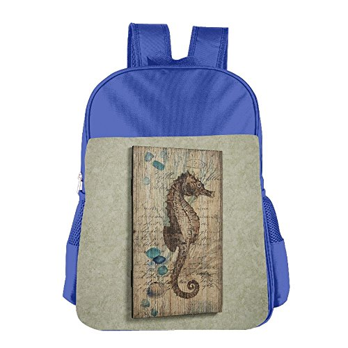 Price comparison product image Rustic Seahorse Wall Decor Kids Backpack For Boys Girls Fit School Backpack