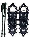 "Alps All Terrian Snowshoes 25"" + pair antishock adjustable snowshoeing pole (black) + free carrying tote bag"