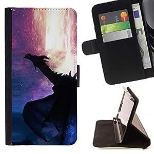 Momo Phone Case / Flip Funda de Cuero Case Cover - Lava Fuego Fairytale Estrellas Misterio - Samsung Galaxy S6