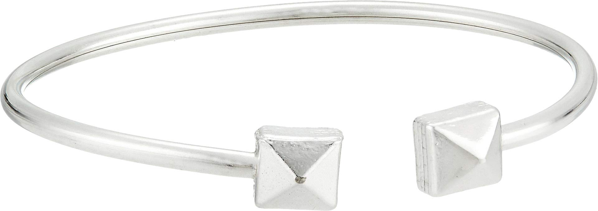 Alex and Ani Women's Pyramid Cuff Bracelet - Precious Metal Sterling Silver One Size