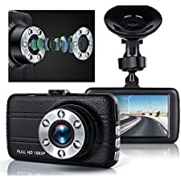 Dash Cam, Greenpointselect Dash Camera for Cars with Full HD 1080P, 170 Degree Super Wide Angle Cameras, 3.0 TFT Display,with Night Vision, WDR, Loop Recording