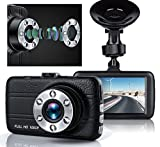 Dash Cam, Greenpointselect Dash Camera for Cars with Full HD 1080P, 170 Degree Super Wide Angle Cameras, 3.0″ TFT Display,with Night Vision, WDR, Loop Recording