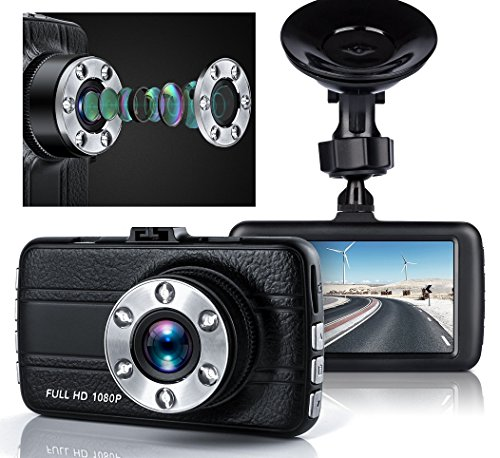 Dash Cam, Greenpointselect Dash Camera for Cars with Full HD 1080P, 170 Degree Super Wide Angle Cameras, 3.0' TFT Display,with Night Vision, WDR, Loop Recording