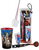 "Star Wars ""The Force Awakens"" Bright Smile 4pc Oral Hygiene Set! Star Wars EP7 Manual Toothbrush Set & Mouthwash Rinse Cup! Plus Bonus Tooth Saver Visual"