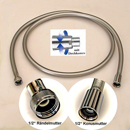 Brauseschlauch SylverLine 1/2 Zoll, chrom glatt, verschiedene Längen (80 cm - 125 cm - 160 cm - 200 cm)