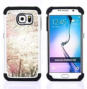For Samsung Galaxy S6 G9200 - sun spring blossom trees cherry nature Dual Layer caso de Shell HUELGA Impacto pata de cabra con im??genes gr??ficas Steam - Funny Shop -