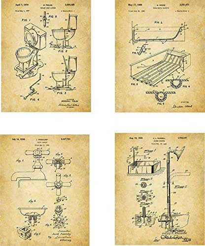 Amazon.com: Bathroom Patent Wall Art Prints