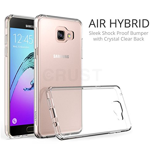 CRUST™ [Air Hybrid] Premium Samsung Galaxy A5 (2016) Clear Back Case Cover, [Shock Absorption Bumper] With [Anti Scratch Crystal Clear Back] For Galaxy A5 (2016) SM-A510 [Ultra Slim Fit] - Retail Packaging