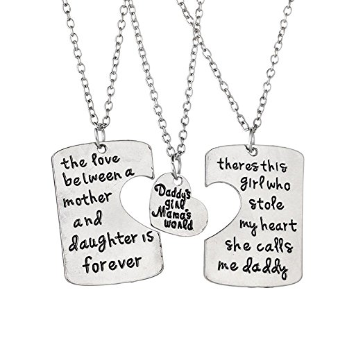 """Daddy's Girl Mama's World"" Necklace 