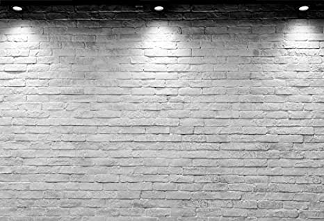 Baocicco Vinyl 10x6 5ft Backdrop Photography Background White Brick Wall Computer Print Seamless Photo Background Children Baby Adults Portraits Photo