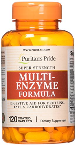 Puritans Pride Super Strength Multi Enzyme, 120 Count