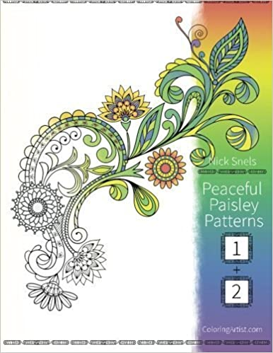 Book Peaceful Paisley Patterns 1 & 2: Coloring Book for Grown-Ups by Nick Snels (2015-08-01)