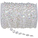Amazon wedding engagement decorations event party hooddeal 99 ft clear crystal like beads by the roll wedding decorations junglespirit Gallery