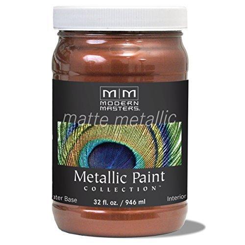 Modern Masters MM205 Matte Metallic Paint, Antique Copper, Quart by Modern Masters