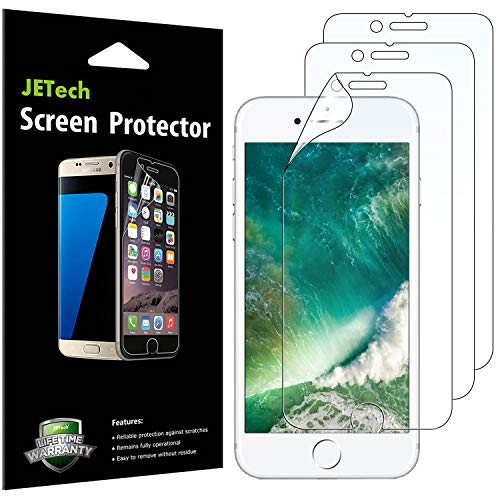 (JETech Screen Protector for iPhone 8 Plus and iPhone 7 Plus, PET Film, HD Clear, 3-Pack)
