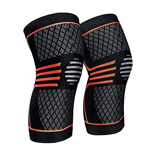 ZetHot Knee Compression Sleeve Support Brace(Pair) Knee Brace for Running, Jogging, Sports, Joint Pain Relief, Arthritis and Injury Recovery