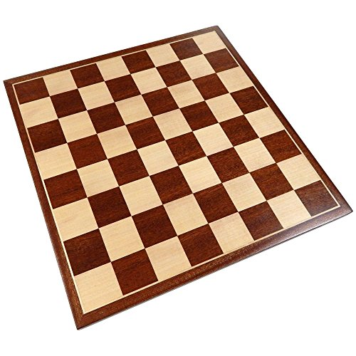 Erebus Chess Board with Inlaid Mahogany Wood – Board Only – 13 Inch ()