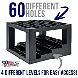 U.S. Art Supply 60 Hole Multi-Level Plastic