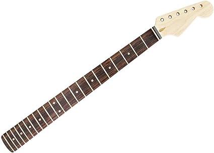 Diapasón de palisandro con mástil de guitarra de 22 trastes ...