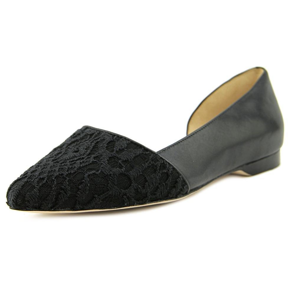 Cole Haan Women's Amalia Skimmer Ballet Flat B01KX185WU 5 B(M) US Black Lace/Leather
