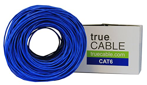 Cat6 Plenum (CMP), 1000ft, Blue, Solid Bare Copper Bulk Ethernet Cable, 550MHz, ETL Listed, 23AWG 4 Pair, Unshielded Twisted Pair (UTP), trueCABLE 2 HIGH PERFORMANCE NETWORK CABLE. This plenum rated cat 6 lan cable is 23 AWG with 4 pairs (8C). Suitable for Fast, Gigabit, and 10-Gigabit Ethernet. Supports bandwidth of up to 550 MHz. HASSLE FREE PACKAGING. 1000 feet (305 meters) of our trueCABLE product has been packaged in a tangle free, easy pull box so you don't have to worry about getting behind on your next job. 100% SOLID BARE COPPER CONDUCTORS. Pure bare copper produces a stronger signal along with better conductivity and flexibility when compared to copper clad aluminum (CCA).