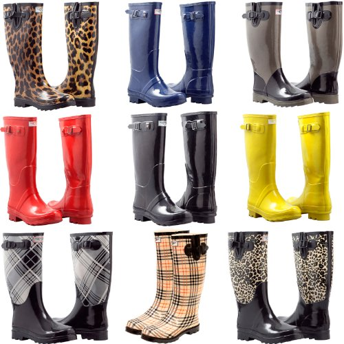 Women's Flat Wellies Rubber Rain & Snow Boots