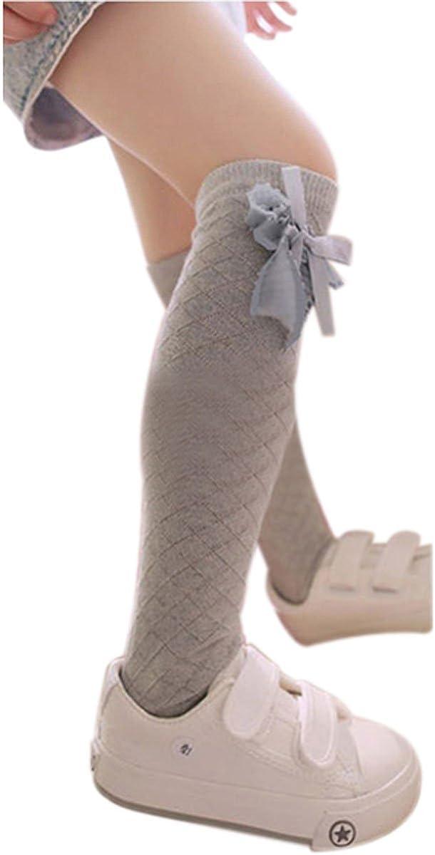 Bluelans/® Childrens Girls Lovely Bow White Knee High School Socks Stockings