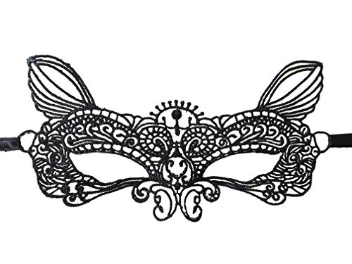 1d Halloween Party (Equisite Sexy Masquerade Party Lace Mask, Eye Mask (Hard Version) (Cat)
