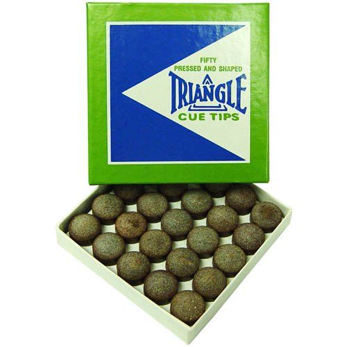 TRIANGLE CUE Tips 13mm - Box of ()