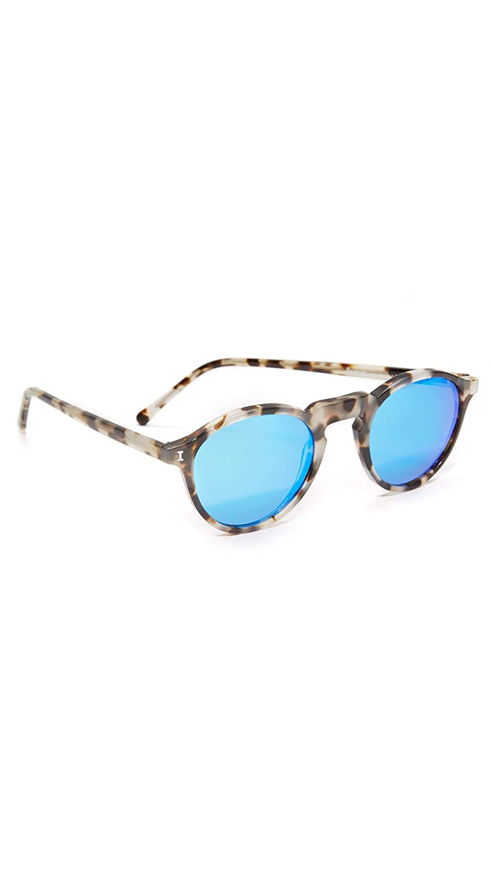 cbbc200cc Amazon.com: Illesteva Men's Capri Sunglasses, White Tortoise/Blue Mirror,  One Size: Clothing