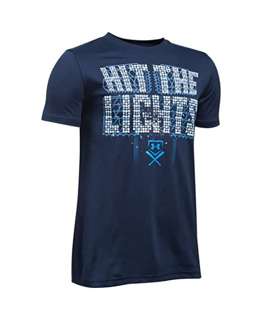 8f0e6bd6ff0e Amazon.com : Under Armour Boys' Hit the Lights Short Sleeve T-Shirt ...