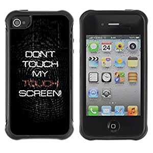 """Hypernova Defender Series TPU protection Cas Case Coque pour Apple iPhone 4 / iPhone 4S [Do not Touch My Screen""""]"""