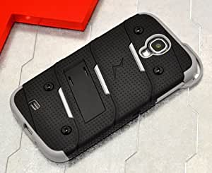 Galaxy S4 i9500 Case, Zizo® Bolt Cover [.33mm 9H Tempered Glass Screen Protector] Included [Military Grade] Armor Case Kickstand Holster Belt Clip