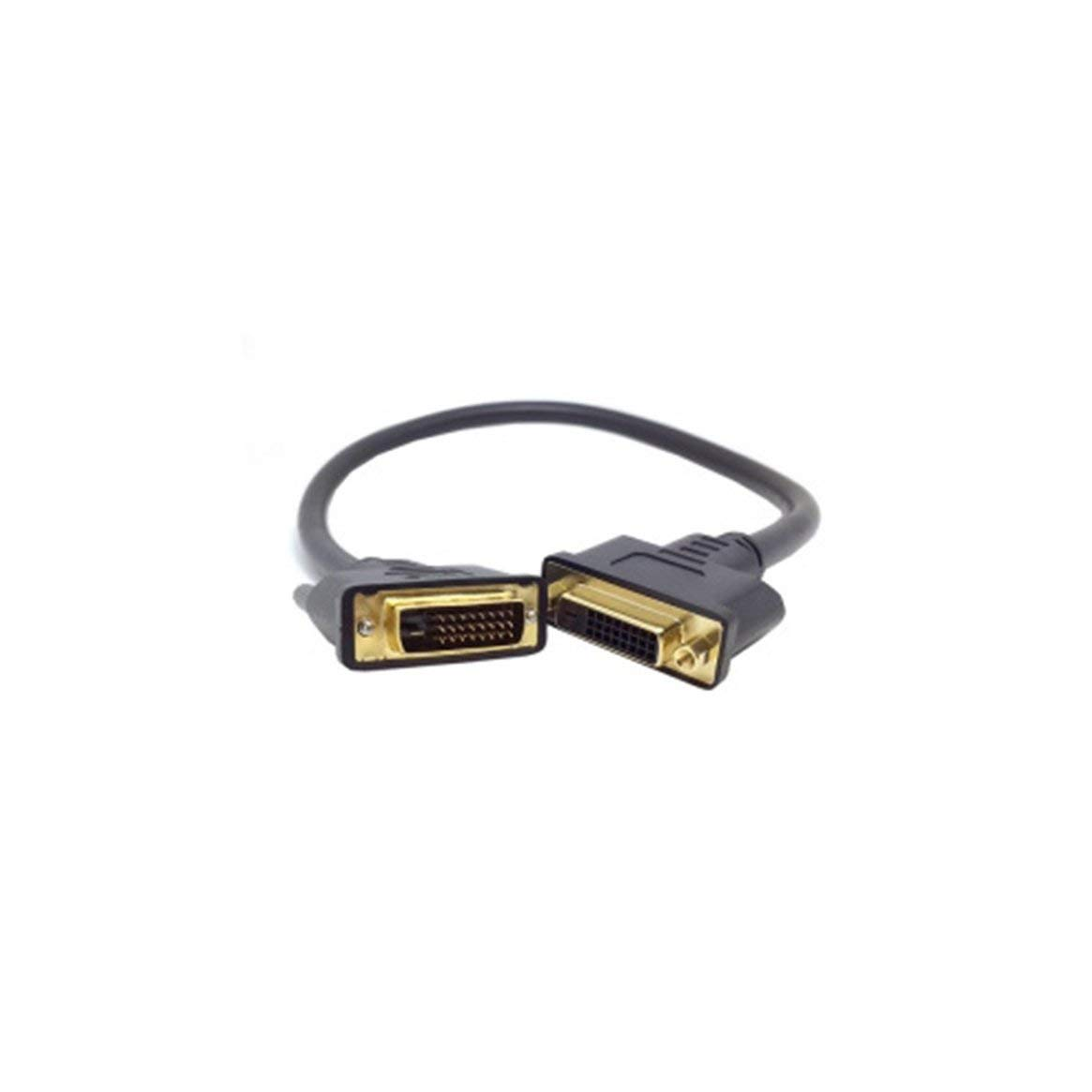 0.5 Metri DVI -D Dual Link Maschio Digitale 24 1 Femmina Cavo prolunga Video per Monitor Proiettore 1 a DVI 24 Nero