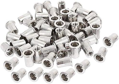 Amazon Com 50pcs M5 Rivet Nuts Stainless Steel Threaded Insert Nutsert Rivnuts M5 0 8 Threads Nuts Home Improvement
