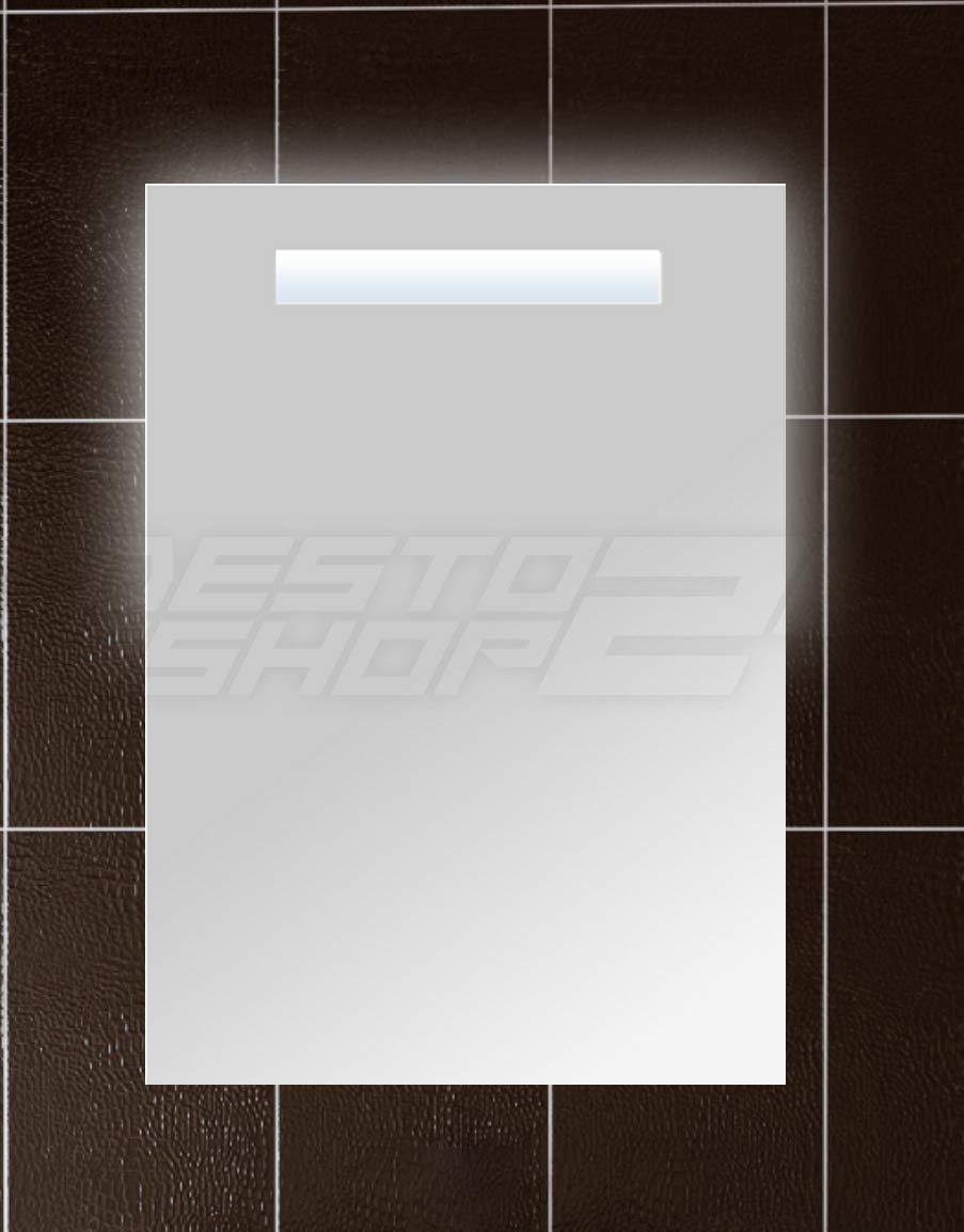 VON ADELBERG LED Spiegel, Badspiegel, Wandspiegel, Gäste WC, 50 X 70 Cm  EKO Serie, Spiegel Modell: ...