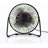 Clock Fan with Floating LED Time Display