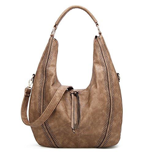 Handbags For Women, Joda PU Leather Shoulder Handbags Ladies Fashion Tote Bags Casual Hobo Shopping Bags Totes Daily Purses (Brown) by Joda