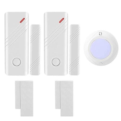 Kafuty Alarma de Puerta Control Remoto antirrobo inalámbrico ...