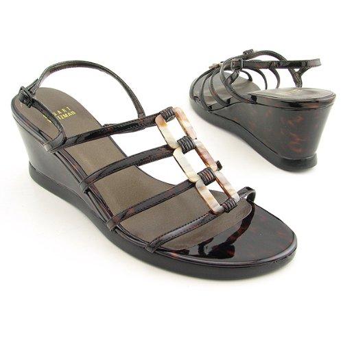 Stuart Weitzman Women's Mariner Wedge Sandal B001EO5TNE 8 B(M) US|Cognac Tartaruga