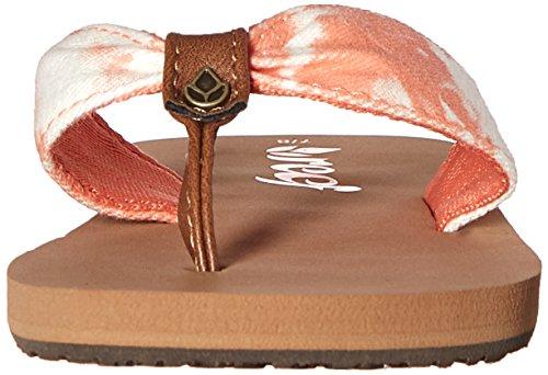 Reef Little Scrunch Tx, Zapatos de Primeros Pasos Para Bebés Naranja (Coral Tye Dye)