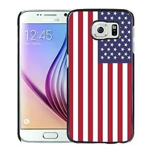 Newest Samsung Galaxy S6 Case ,American Flag 9 Black Samsung Galaxy S6 Cover Case Hot Sale And Popular Designed Phone Case