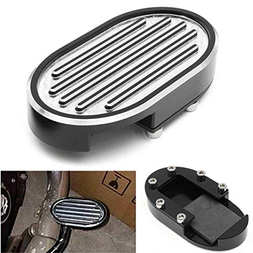 Frames & Fittings 1 Pc Billet Brake Pedal Pad Cover for Harley Dyna V-Rod Sportste 883 1200 Chrome Motorcycle for Edge CNC Aluminum Foot Rests ()