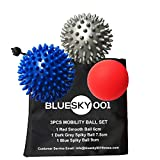 Athletics High Density Massage Balls - Set of 3, Acupressure and Trigger Point Therapy -Spiky & Lacrosse Ball with Carry Bag and User Guide - Smart GIFT Idea