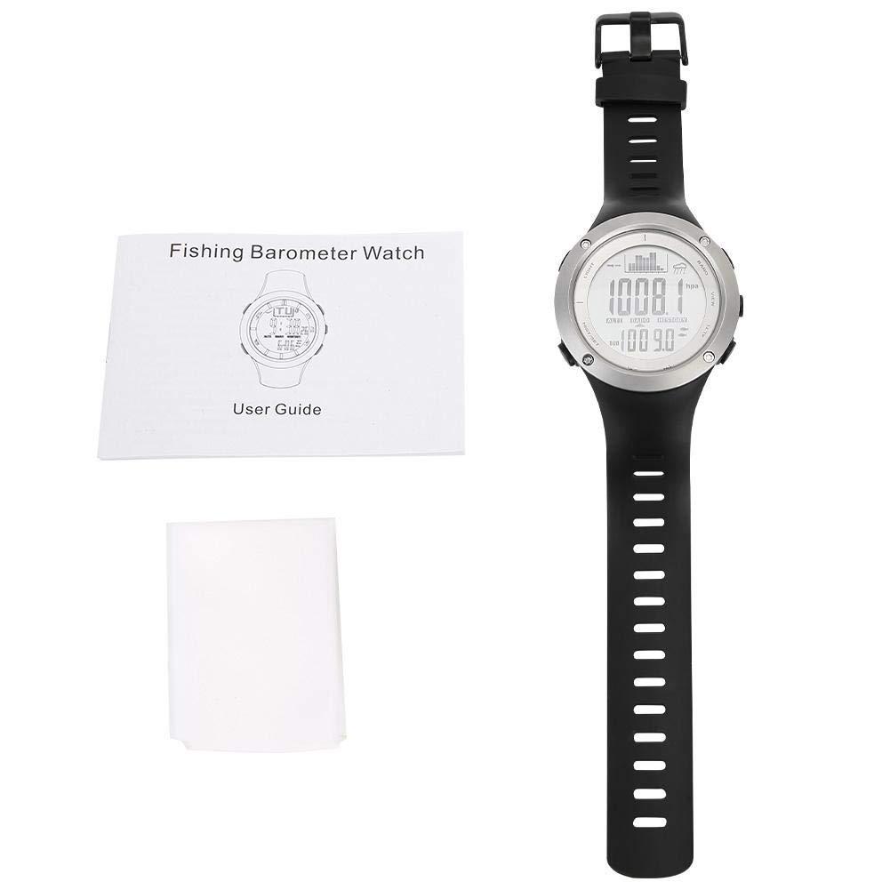 Tbest Reloj de Barómetro de Pesca,Impermeable Reloj de Pesca ...