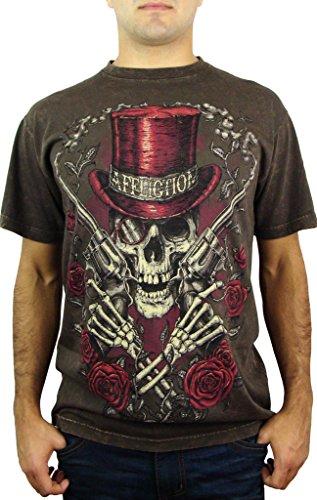 Affliction Smokin Aces Short Sleeve Super T-shirt M Brown